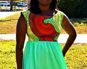 African Print / Chiffon Dress