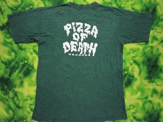 Vtg Pizza of Death Records   Hi-Standard  NOFX   T Shirt Original