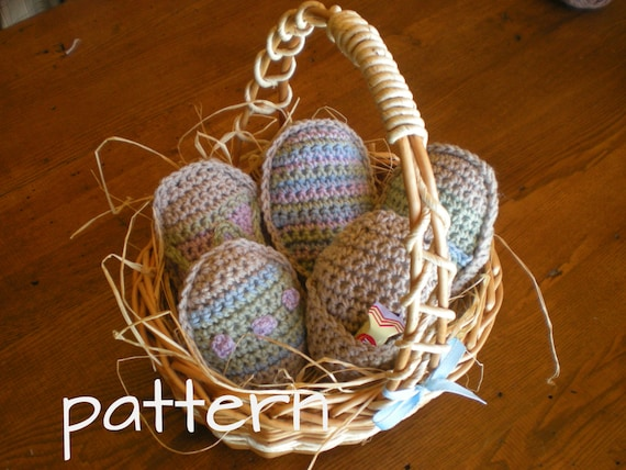 Easter Egg Treat Holders - Crochet Pattern - SALE