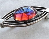 Art Deco Sterling Mexican Opal Brooch-VJSE Team - MyBonnyMonAbri