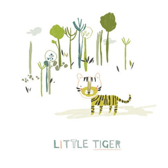 Little Tiger - A5 Print