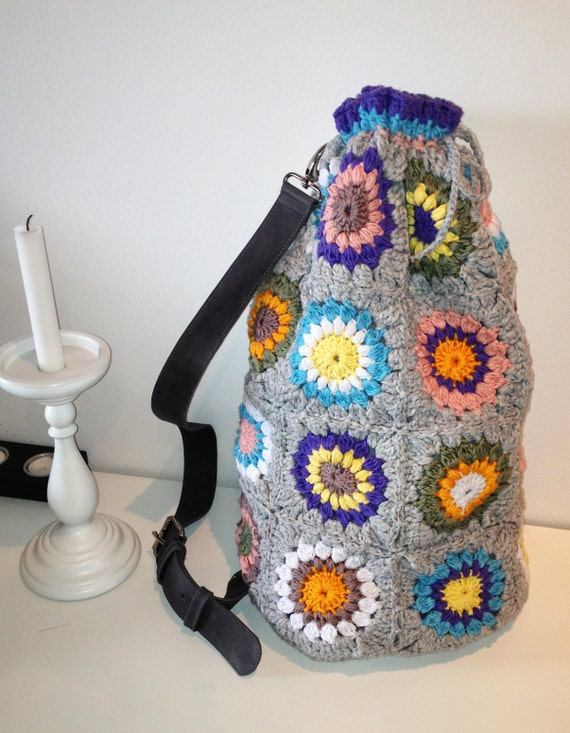 SUNBURST crochet bag