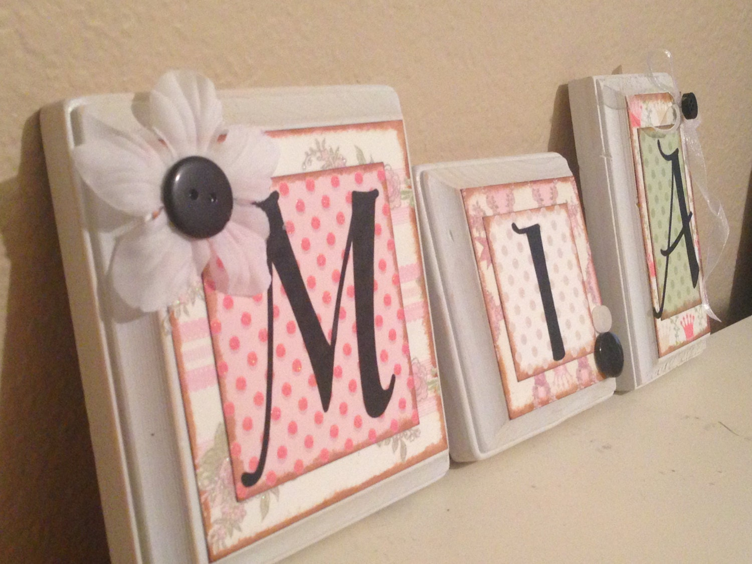 Nursery Wall Letters Personalized Custom By Babybarenecessities