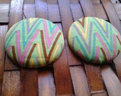 Extra Large Fabric Button Earrings-Twiggy