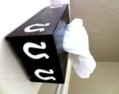 Horseshoe tissue cover box
