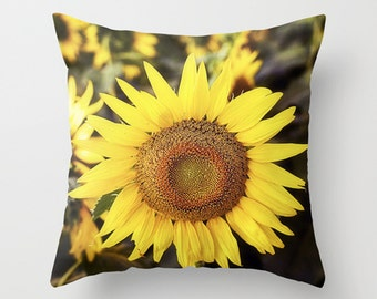 Popular items for sunflower pillows on Etsy