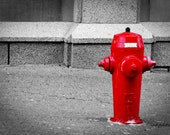 Canada Street Fire hydrant Canadian Wall Art 5x7 Photograph Wall Art - IndyPhotoGirl