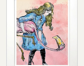 Popular items for alice wonderland art on Etsy