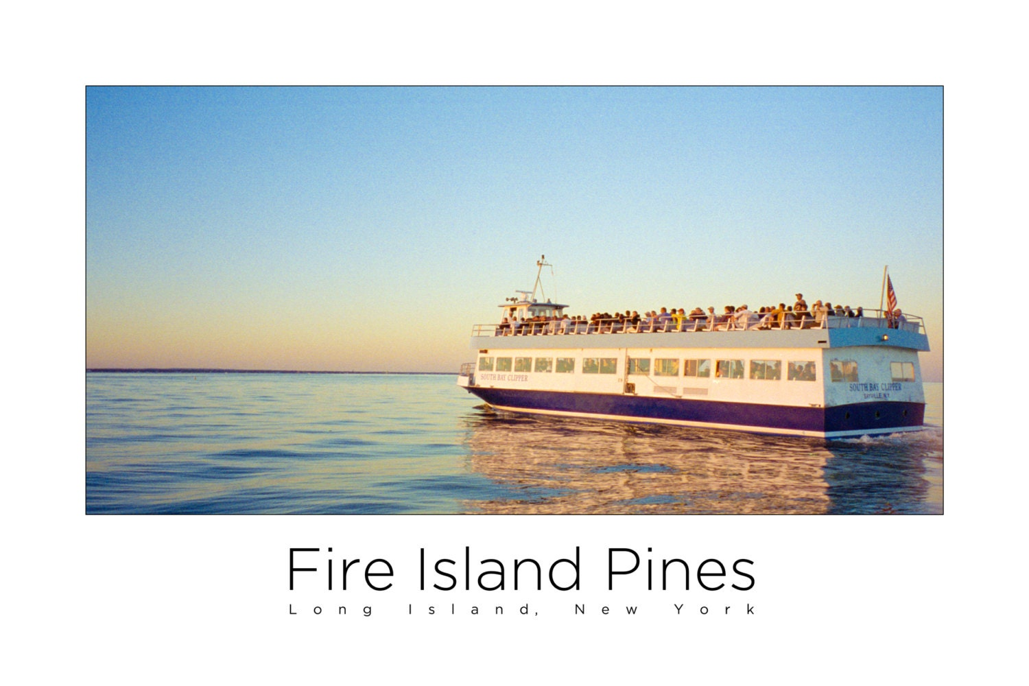 Fire Island Pines Poster - Ferry
