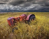 Abandoned Farm Tractor on the Prairie A Fine Art Wall Decor Photograph - RandyNyhofPhotos