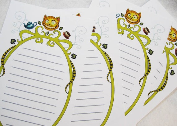 il 570xN.426764939 qe9q Cheshire Cat Personalized Stationary Note Cards
