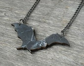 Bat Necklace, Black Vampire Bat Necklace,