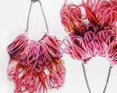 Wonder - hand dyed fringe necklace/ mur Mur