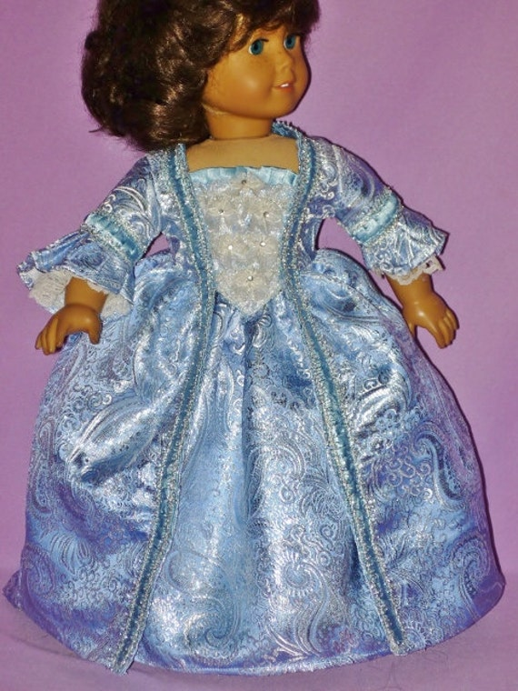 Marie Antionette French Ball Gown for American Girl Doll Felicity