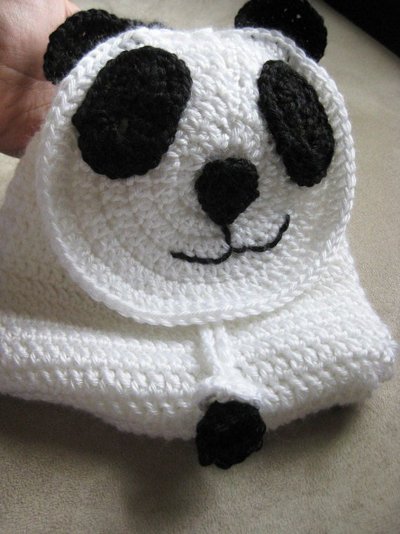 Crochet Pattern - Panda Bear Backpack Toddlers Children's