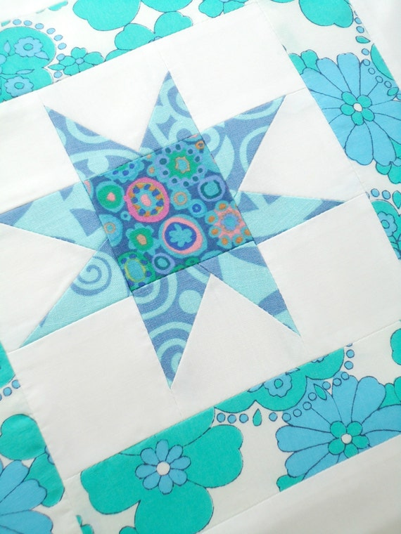 twinkly star patchwork cushion cover