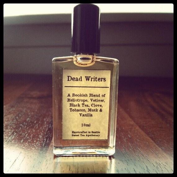 Dead Writers Cologne/Perfume Oil 10ml Bottle - Heliotrope, Black Tea, Tobacco
