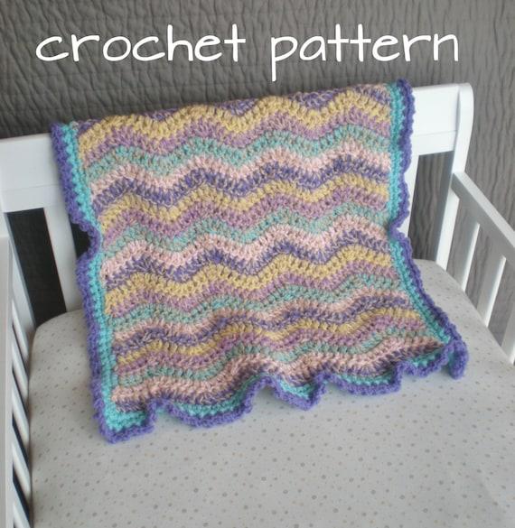 Crochet Baby Blanket - Spring Rainbow - Quick & Cozy Series - PDF Pattern