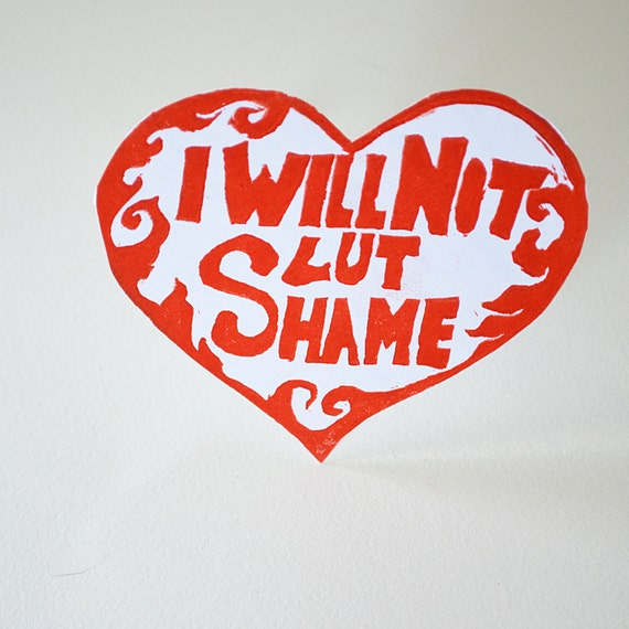 I Will Not Slut Shame Feminist Sticker (Rose Red)