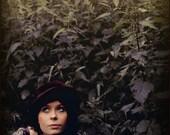 Brown bohemian hat vintage. - BetulaAlbaArt