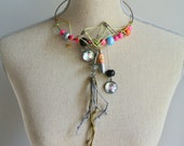 Metalwork and Bead Choker with Charms, No.1 - JNoliciousThings
