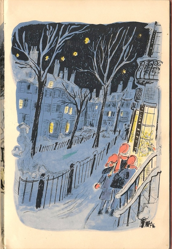 VINTAGE KIDS BOOK The Long Christmas Eve