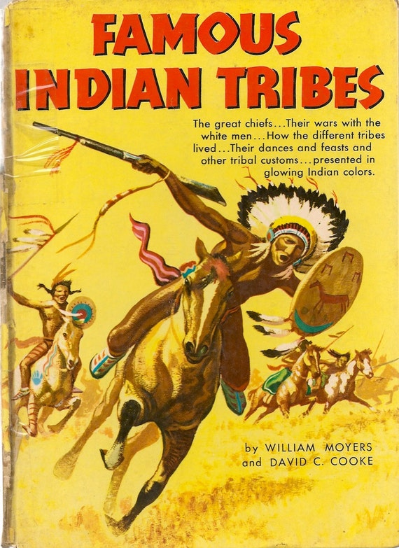 VINTAGE KIDS BOOK Famous Indian Tribes