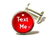 Personalized Men's Valentine's Day Gift. Custom Cufflinks.