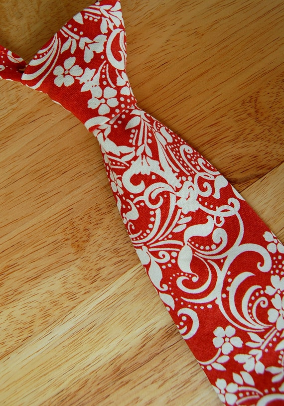Because I'm Me burnt orange swirl necktie