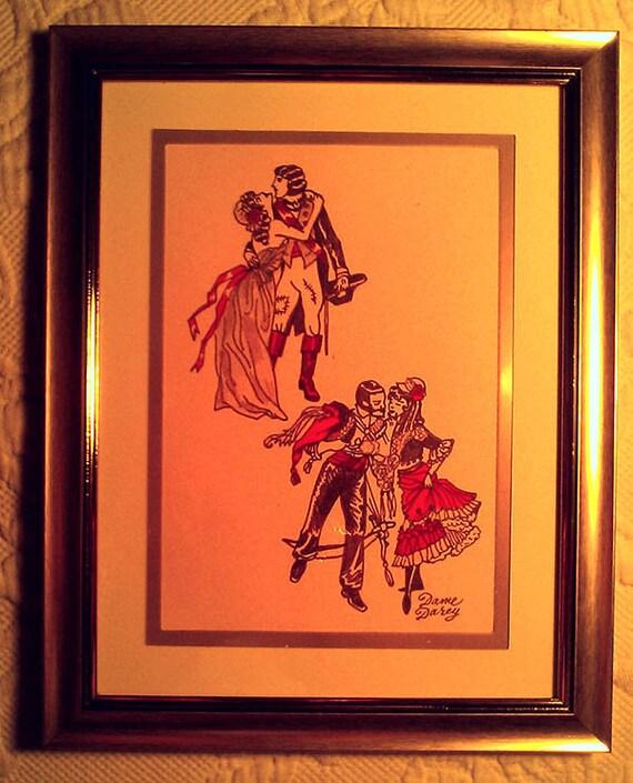 Dame Darcy Valentine Romantic Fantasy Illustration The Golden Couples