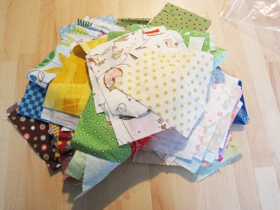 One (1) Pound of Cotton Quilt Fabric Scraps