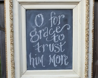 Vintage Cabinet Chalkboard Quote of the Day Scripture by kijsa