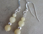 Calcite Sterling Silver Dangle Earrings