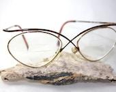 Essence  5 Demi Brown Model 410 1980s Eyeglasses Eyewear Tortoiseshell red Cazal like frames - Waterrose