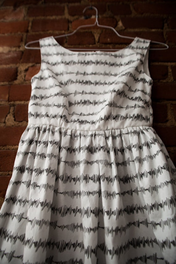 Soundwaves tea dress by Abby Galloway photographed by Quinton VanMeter