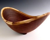 Hold for Matis/Kennedy Wedding  - Walnut Wood Turned Fruit or Salad Bowl - Funtional Wood Bowl - Kitchen Bowl