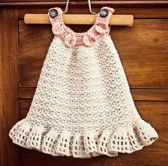 Instant download - Dress Crochet PATTERN (pdf file) - Halter Ruffle Dress (sizes up to 5 years)