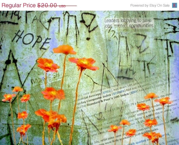Clearance Half Off Hope for a New Beginning Digital Collage Print