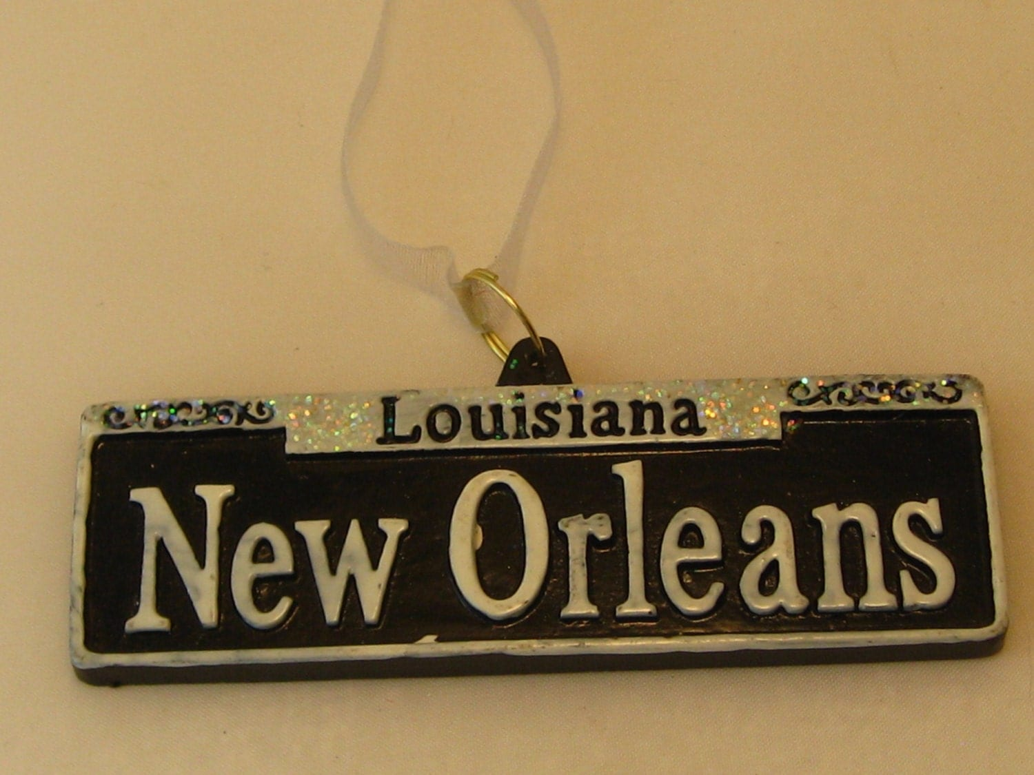 New NEW ORLEANS Street Sign Holiday ORNAMENT favor by CopperFancy