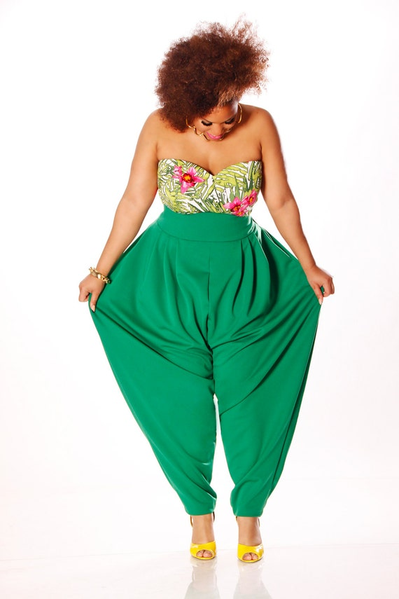 JIBRI Plus Size High Waist Slouch Pant