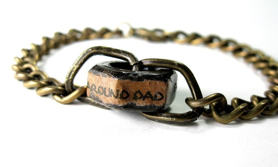 Industrial Chic Hex Nut Bracelet, Antiqued Brass, Steampunk, For Men, Mens Accessories, Gifts for Guys, Gifts for Dad, Father's Day