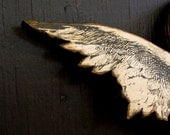 Cherub Wing Letter M Vintage Inspired -  Wood Wall Decor - EdiesLab