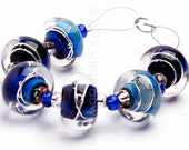 Azure Seas - Handmade Lampwork Glass Beads by Sarah Downton - SarahDownton