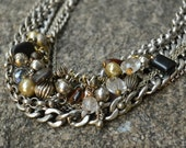 Chunky Silver Metal Link Chain Necklace