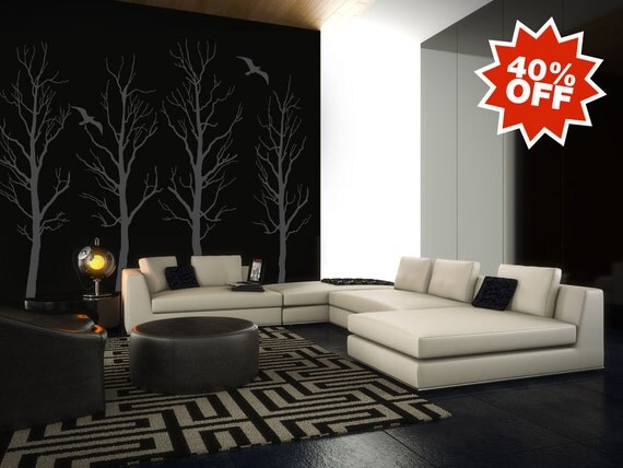 Vinyl Wall Sticker Decal Art - Trees in BROWN