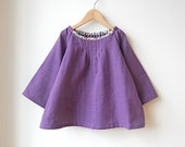 lilac : purple blouse with hint of flower - spoontamago