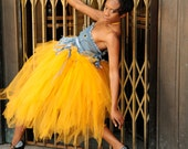 Couture Long Tulle Skirt. Women's adult tutu