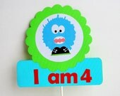 ON SALE I Am 4 Little Monster Centerpiece A697