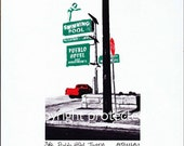 "Limited Edition Print: ""PUEBLO HOTEL"", Tucson, Arizona"