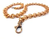 Chainmaille Wallet Chain Mobius Weave Made With Reclaimed Copper Wire - TangledMetal